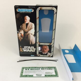 "Custom Vintage Star Wars 12"" Ben Obi-Wan Kenobi Jedi Training box and inserts"