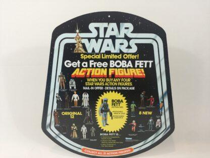 Replacement Vintage Star Wars Free Boba Fett Figure shop / store display bell hanger