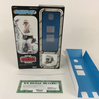 "Custom Vintage Star Wars The Empire Strikes Back 12"" Luke Skywalker Hoth box and inserts"