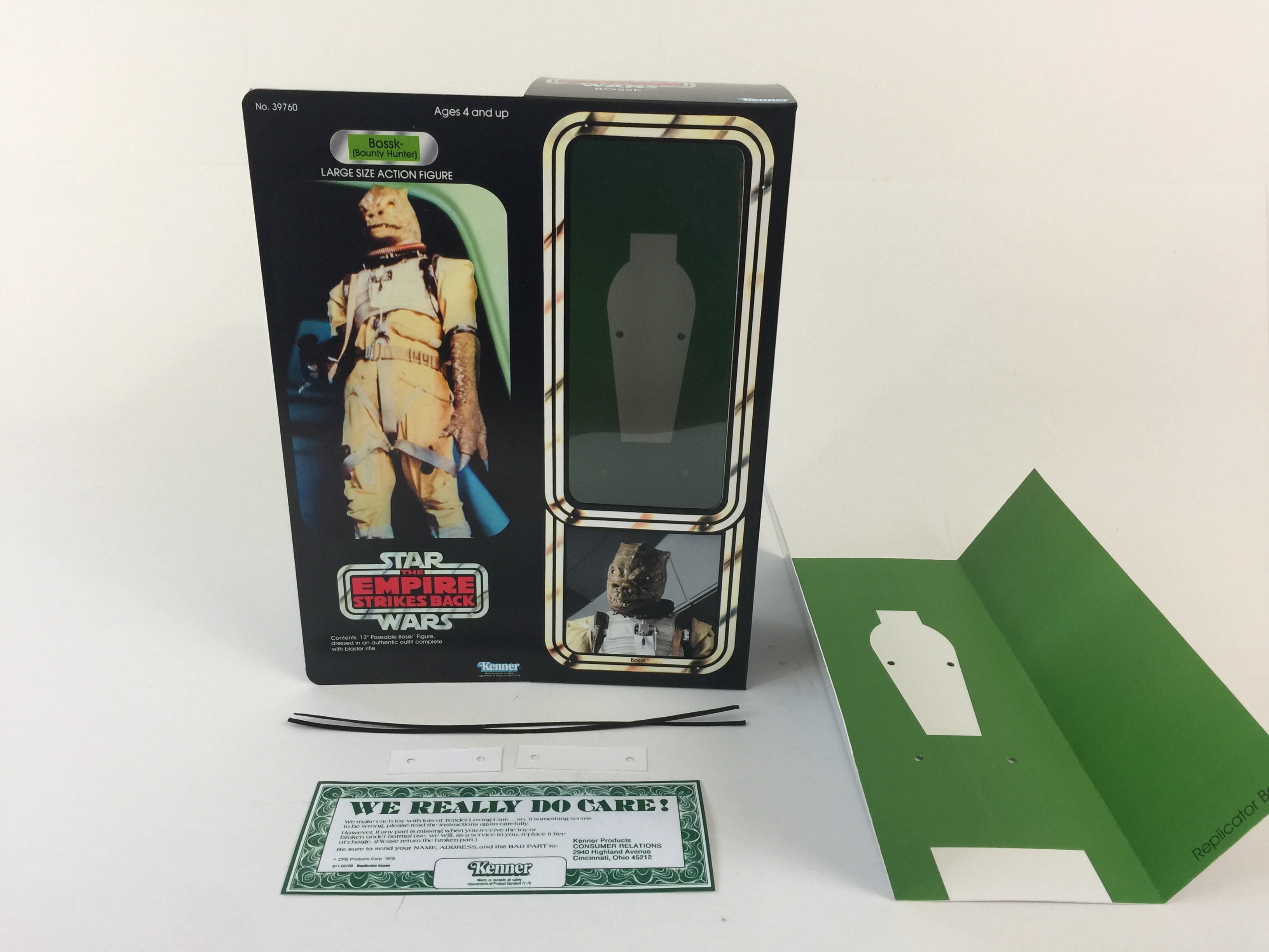 Custom Vintage Star Wars The Empire Strikes Back 12 Bossk Bounty Hunter Box And Inserts