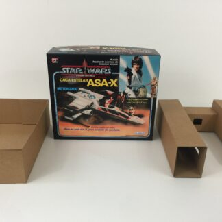 Replacement Vintage Star Wars Glasslite ASA-X X-wing box and inserts