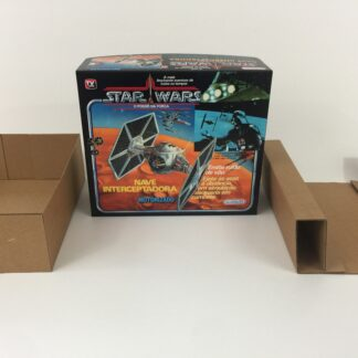 Replacement Vintage Star Wars Glasslite Nave Interceptadora Tie Fighter box and inserts