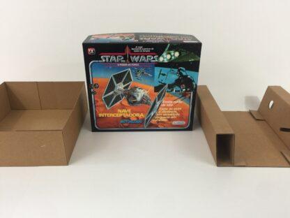 Replacement Vintage Star Wars Glasslite Nave Interceptadora Tie Fighter box and inserts