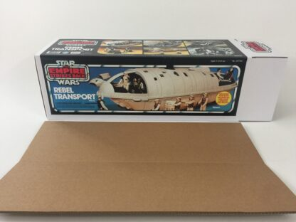 Replacement Vintage Star Wars The Empire Strikes Back Rebel Transport box and inserts Blue Version