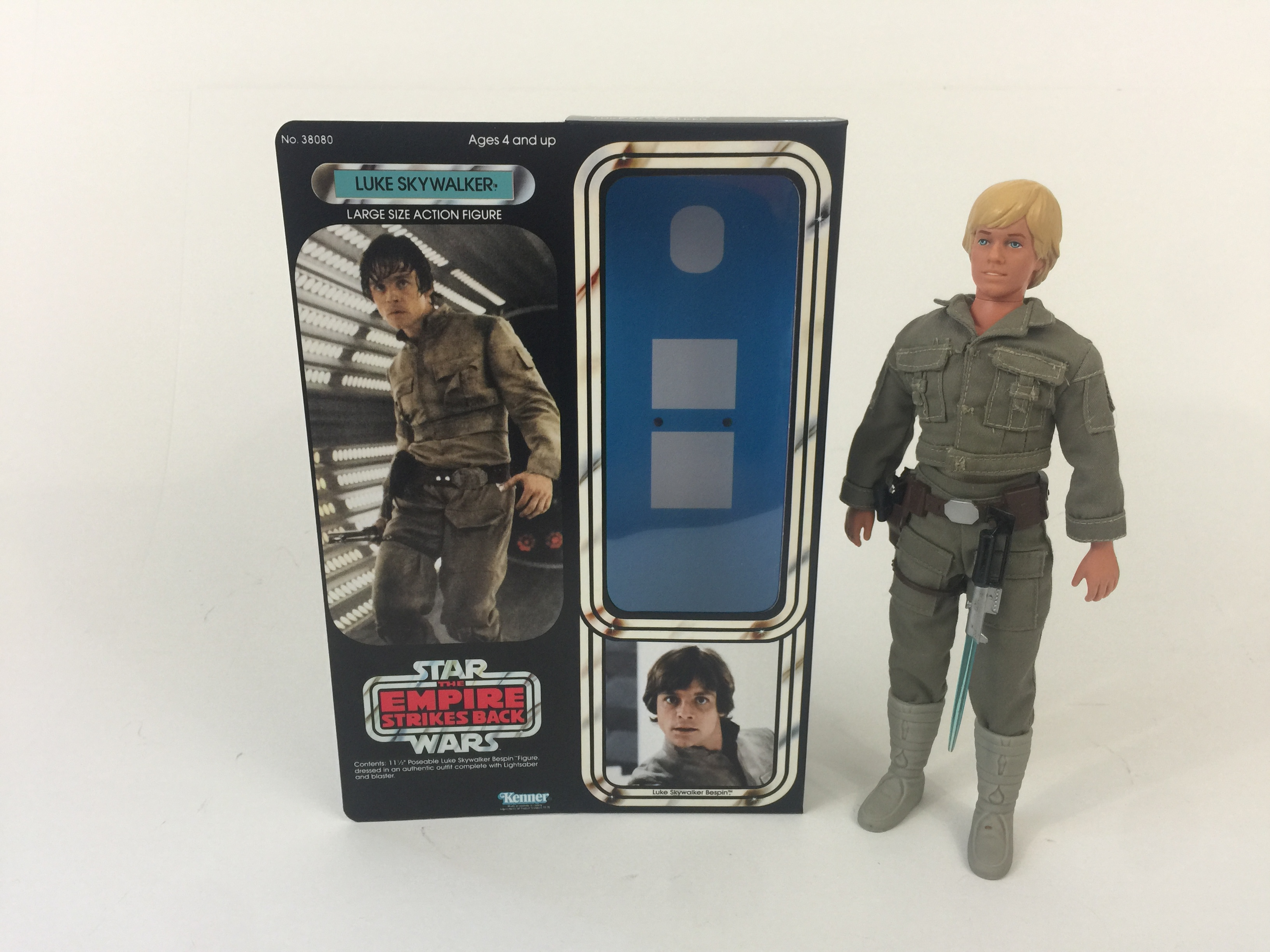 Vintage Star Wars Bespin Luke Skywalker Repro armas Suporte Grátis