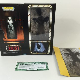 "Custom Vintage Star Wars The Return Of The Jedi 12"" Han Solo In Carbonite box and inserts"