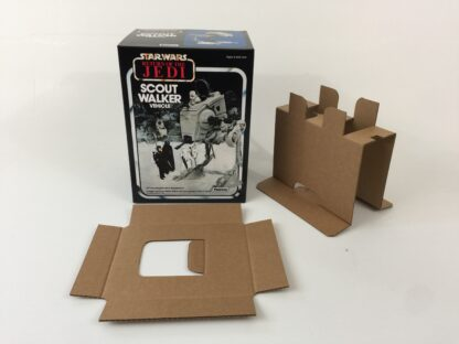 Replacement Vintage Star Wars The Return Of The Jedi Palitoy Scout Walker At-ST box and inserts