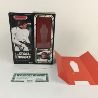 "Custom Vintage Star Wars 12"" Han Solo Stormtrooper Disguise box and inserts"