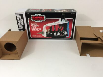 Replacement Vintage Star Wars The Empire Strikes Back Darth Vader Star Destroyer box and inserts