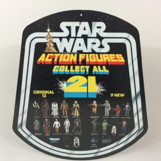 Reproduction Vintage Star Wars Collect All 21 Figures shop store bell display