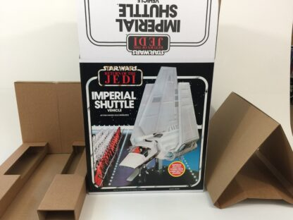 Replacement Vintage Star Wars The Return Of The Jedi Palitoy Imperial Shuttle box and inserts