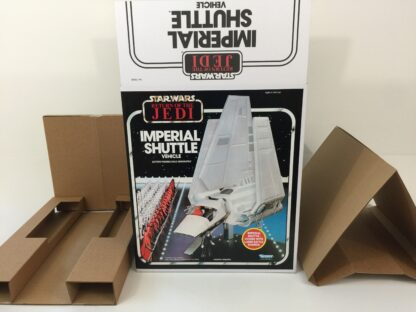 Replacement Vintage Star Wars The Return Of The Jedi Kenner Imperial Shuttle box and inserts