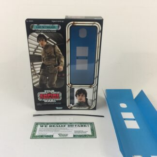 "Custom Vintage Star Wars The Empire Strikes Back 12"" Luke Skywalker Bespin box and inserts for modern figure"