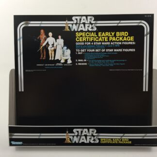 Replacement Vintage Star Wars Early Bird Certificate store shop display bin and header