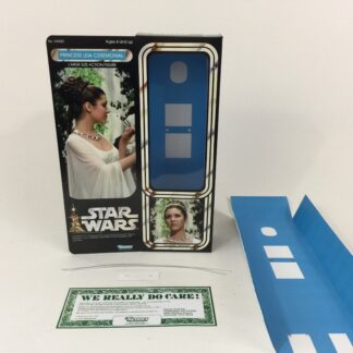 "custom Vintage Star wars 12"" princess leia ceremonial box and inserts modern version"
