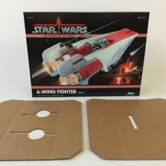 Reproduction Vintage Star Wars Prototype The Power Of The Force A-Wing box and inserts