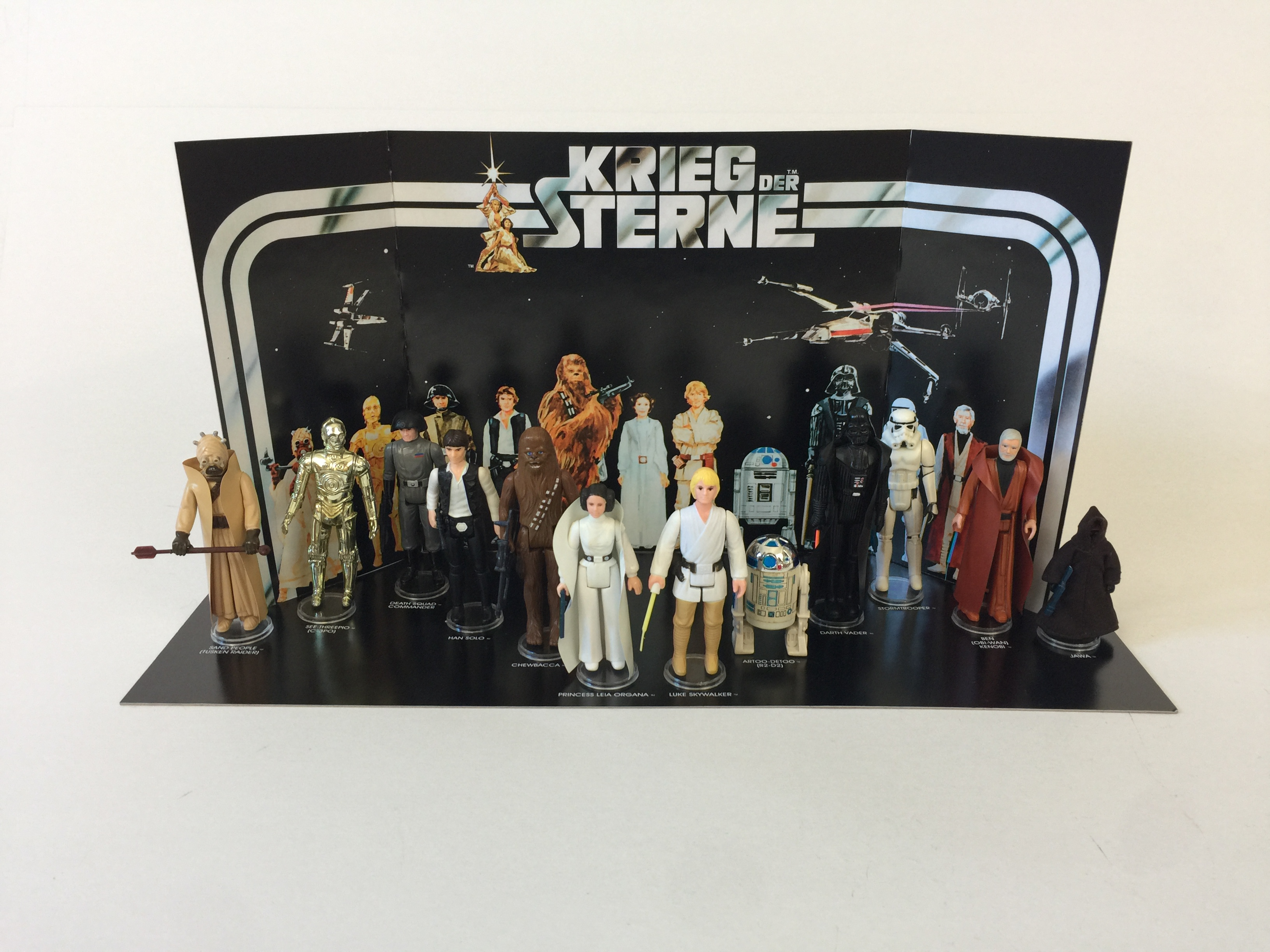 Reproduction Vintage Star Wars Prototype Kreig Der Sterne First 12 Display Backdrop Replicator Boxes And Inserts