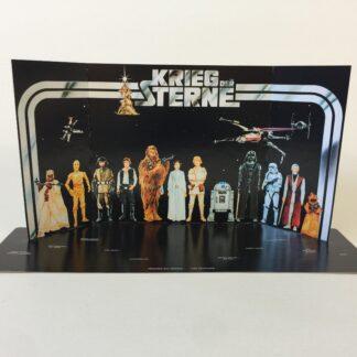 Reproduction Vintage Star Wars prototype Kreig Der Sterne first 12 display backdrop