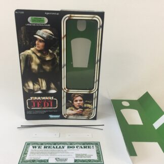 "Custom Vintage Star Wars The Return Of The Jedi 12"" Princess Leia Combat Poncho box and inserts"