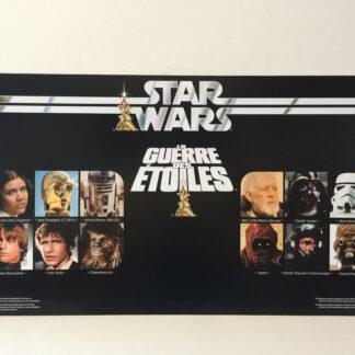 "Replacement Vintage Star Wars La Guerre Des Etoiles 12 Back store shop display header 24"" x 13"""