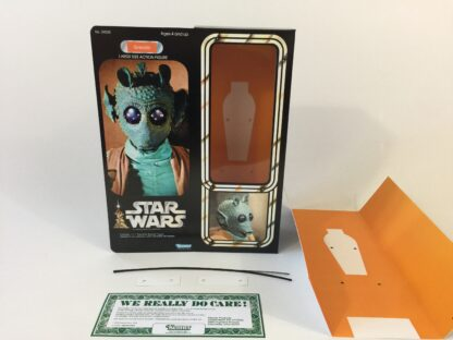"Custom Vintage Star Wars 12"" Greedo box and inserts"