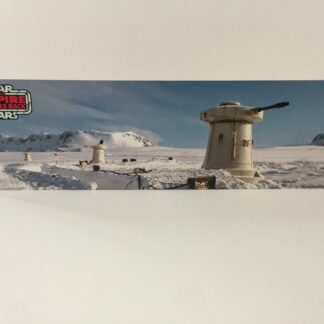 Custom Vintage Star Wars The Empire Strikes Back Turret display backdrop diorama scene for use with grey or stand alone