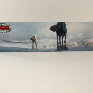 Custom Vintage Star Wars The Return Of The Empire Strikes Back AT-At display backdrop diorama scene B for use with grey or stand alone