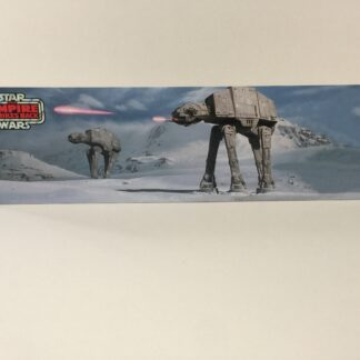 Custom Vintage Star Wars The Return Of The Empire Strikes Back AT-At display backdrop diorama scene A for use with grey or stand alone