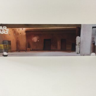 Custom Vintage Star Wars Mos Eisley Cantina Docking Bay display backdrop diorama scene for use with grey or stand alone