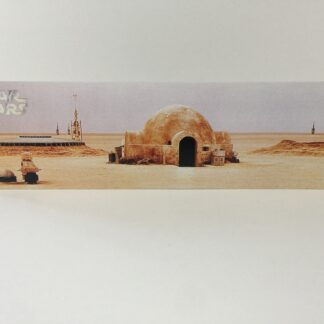 Custom Vintage Star Wars Lars Homstead display backdrop diorama scene B for use with grey or stand alone