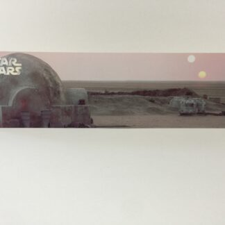 Custom Vintage Star Wars Lars Homstead display backdrop diorama scene for use with grey or stand alone