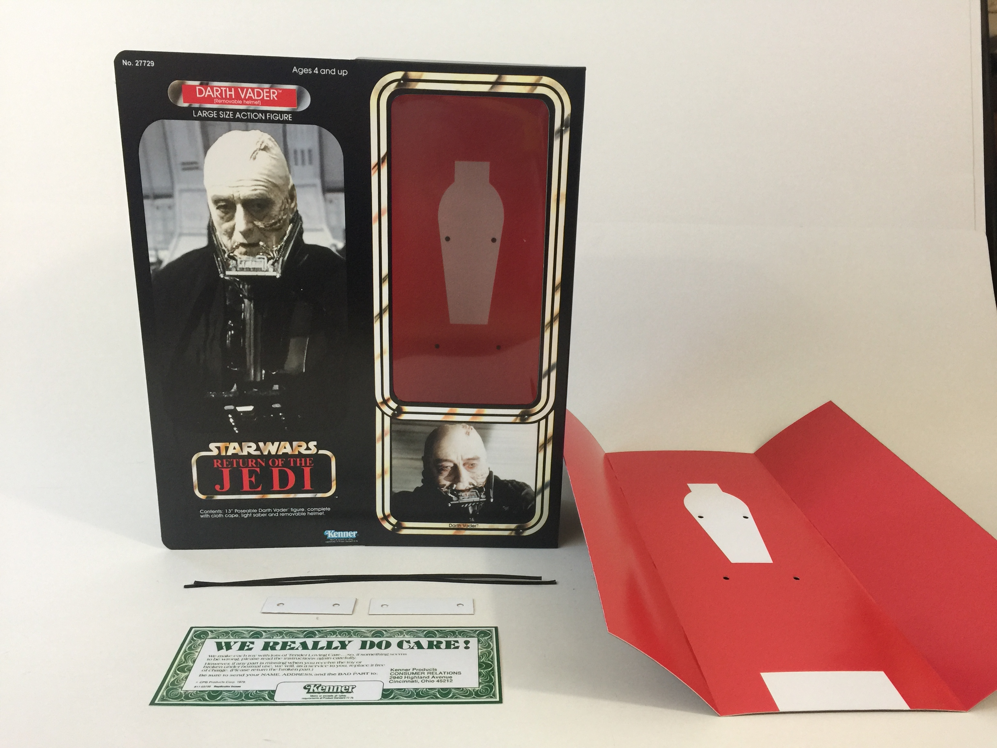 Custom Vintage Star Wars The Return Of The Jedi 12 Darth Vader Removable Mask Box And Inserts Replicator Boxes And Inserts