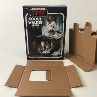 Replacement Vintage Star Wars The Return Of The Jedi kenner Scout Walker AT-ST box and inserts