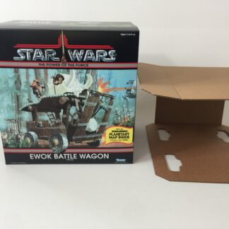 Replacement Vintage Star Wars The Power Of The Force Ewok Battle Wagon box and insert