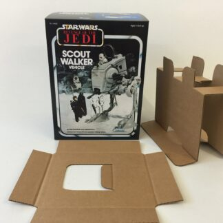 Reproduction Vintage Star Wars The Revenge Of The Jedi Prototype Scout Walker AT-ST box and inserts