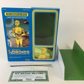 "Custom Vintage Star Wars Droids 12"" C-3PO box and inserts"