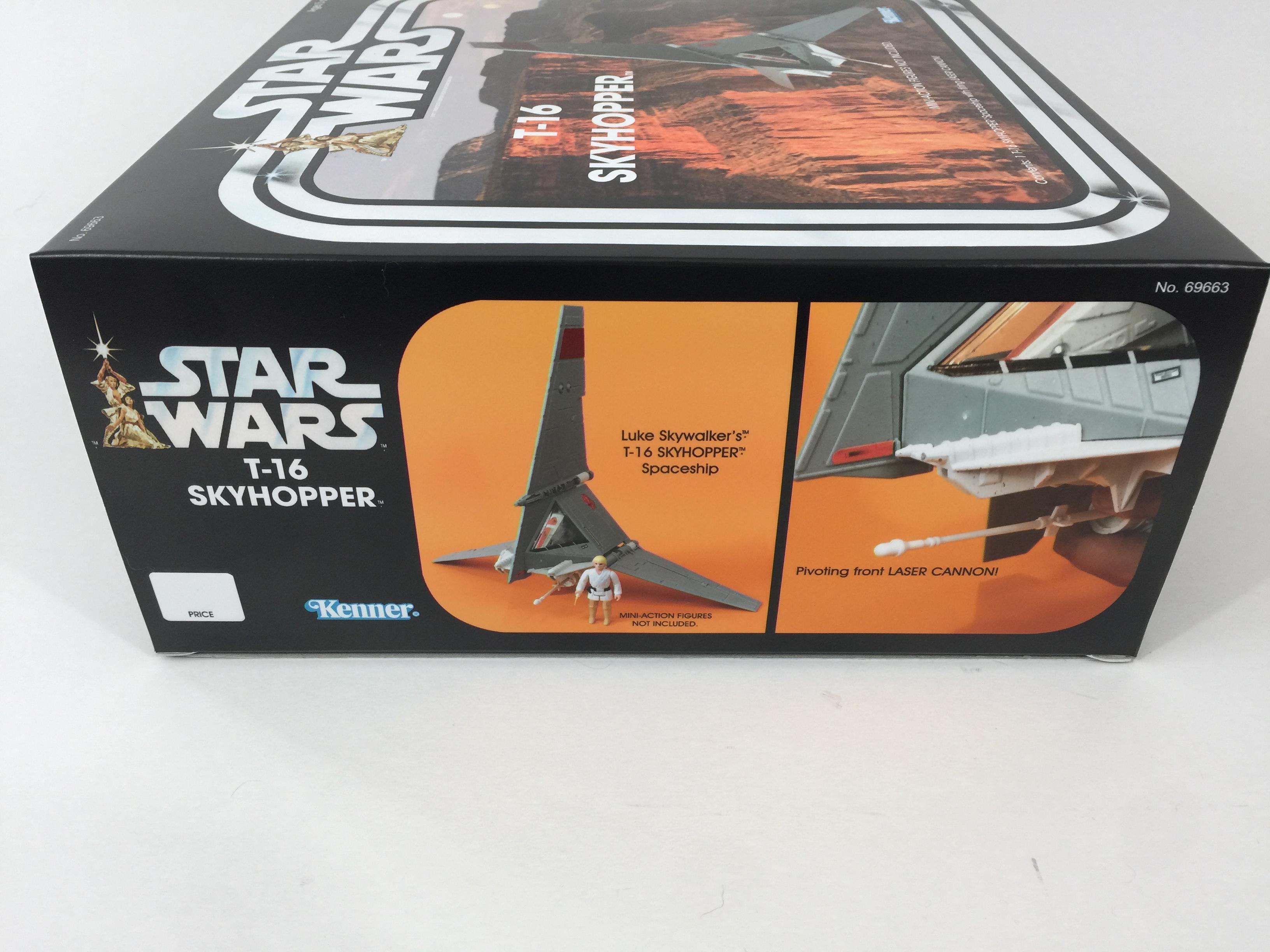 Custom Vintage Star Wars T-16 Skyhopper box and inserts