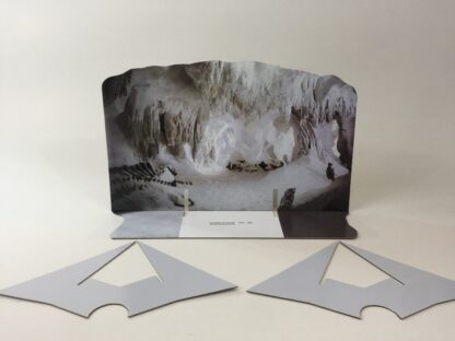 Custom Vintage Star Wars The Empire Strikes Back Wampa Cave backdrop and supports