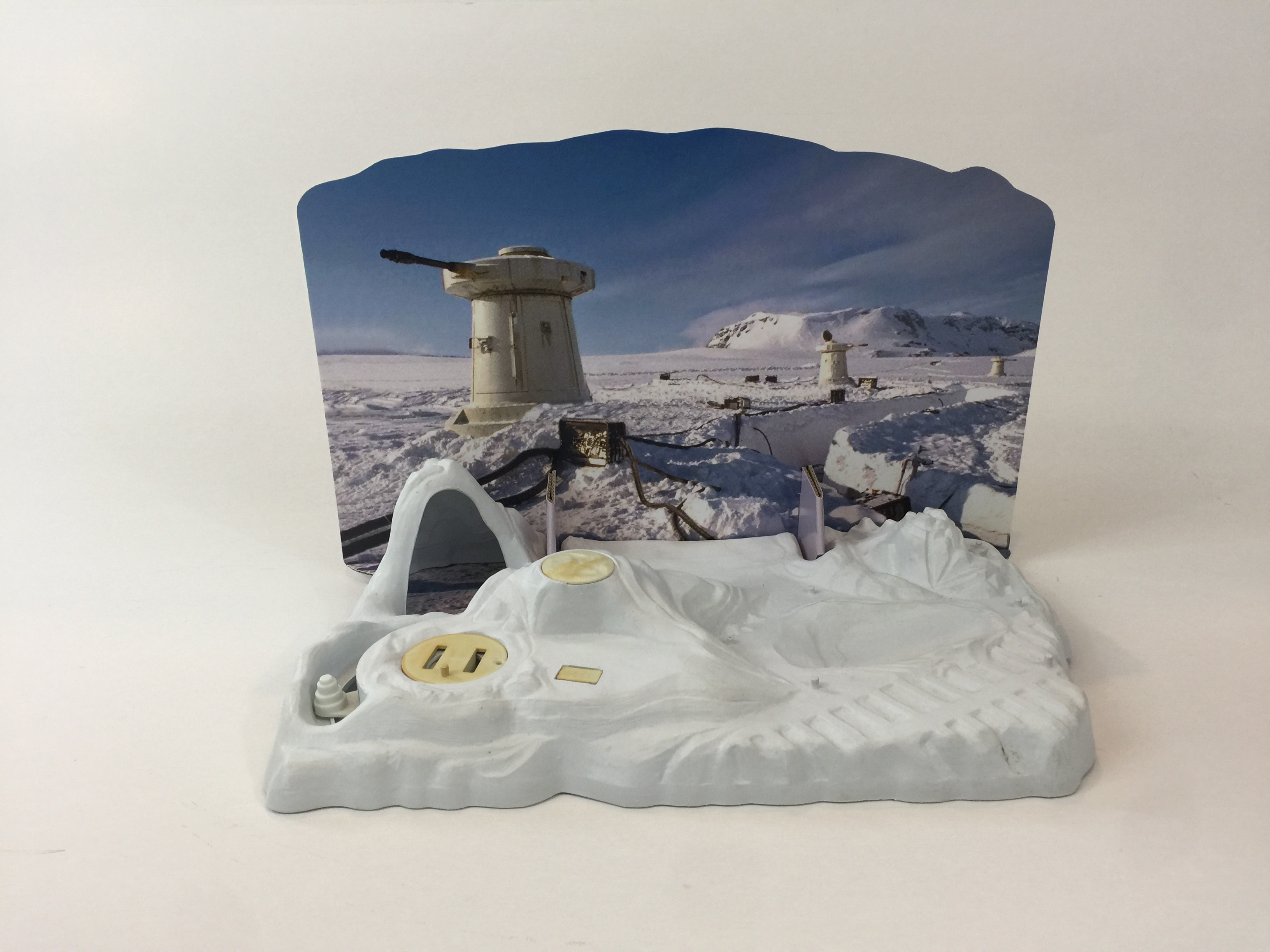 VINTAGE STAR WARS REBEL COMMAND BASE PLAYSET REPRO BACKGROUND ONLY.