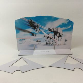 Custom Vintage Star Wars The Empire Strikes Back AT-AT scene backdrop and supports