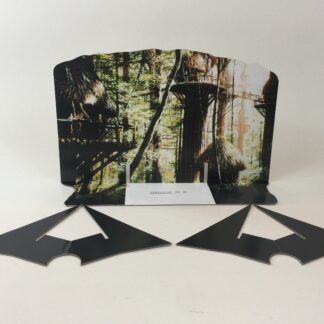 Custom Vintage Star Wars The Return Of The Jedi Ewok Village backdrop and supports