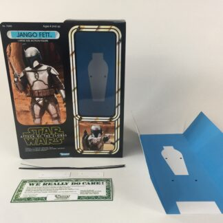 "Custom Vintage Star Wars 12"" Attack Of The Clones Jango Fett box and inserts"