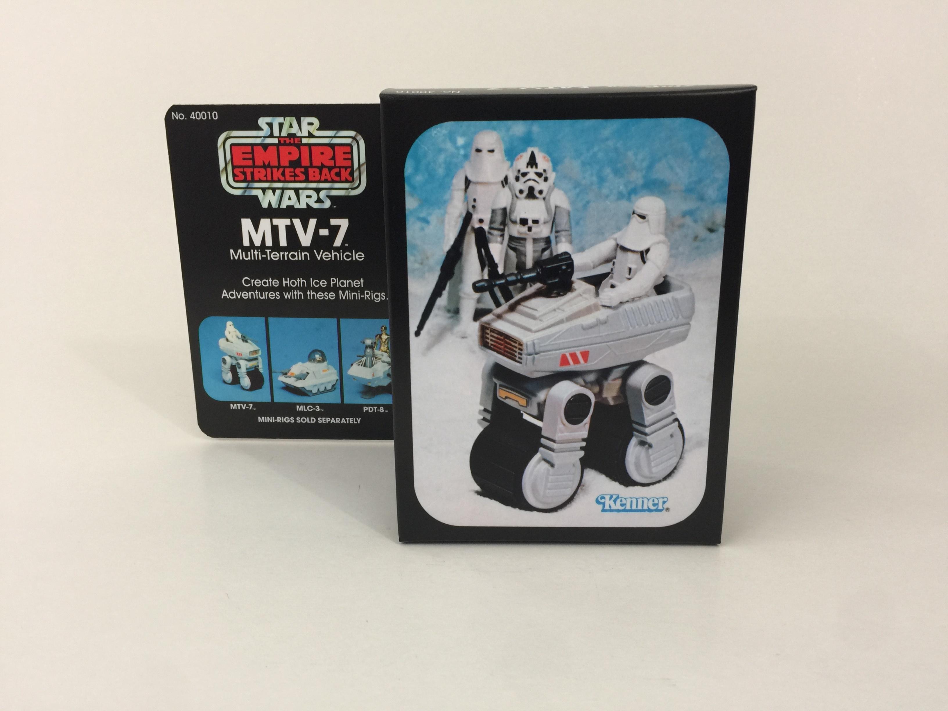 Vintage Replacement Star Wars Vintage MTV-7 Mini Rig  Stickers Labels