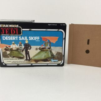 Replacement Vintage Star Wars The Return Of The Jedi Desert Sail Skiff mini rig box and inserts