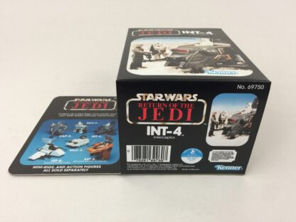 Reproduction Prototype Vintage Star Wars The Return Of The Jedi INT-4 mini rig box and inserts