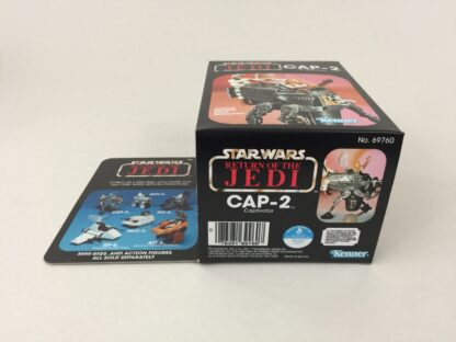 Reproduction Prototype Vintage Star Wars The Return Of The Jedi CAP-2 mini rig box and inserts