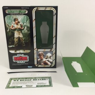 "Custom Vintage Star Wars The Empire Strikes Back 12"" Luke Skywalker and Yoda Dagobah box and inserts"