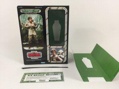 "Custom Vintage Star Wars The Empire Strikes Back 12"" Luke Skywalker and Yoda Dagobah box and inserts"