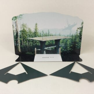 Custom Vintage Star Wars The Return Of The Jedi Endor Forest backdrop and supports
