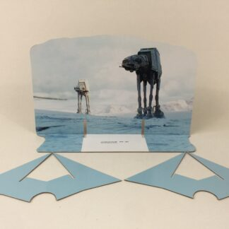 Custom Vintage Star Wars The Empire Strikes Back AT-AT scene 3 backdrop and supports